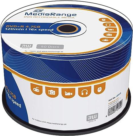 Mediarange PCS70302MR445 - Pack de 50 DVD+R (4.7 GB, 16x): Amazon.es: Informática