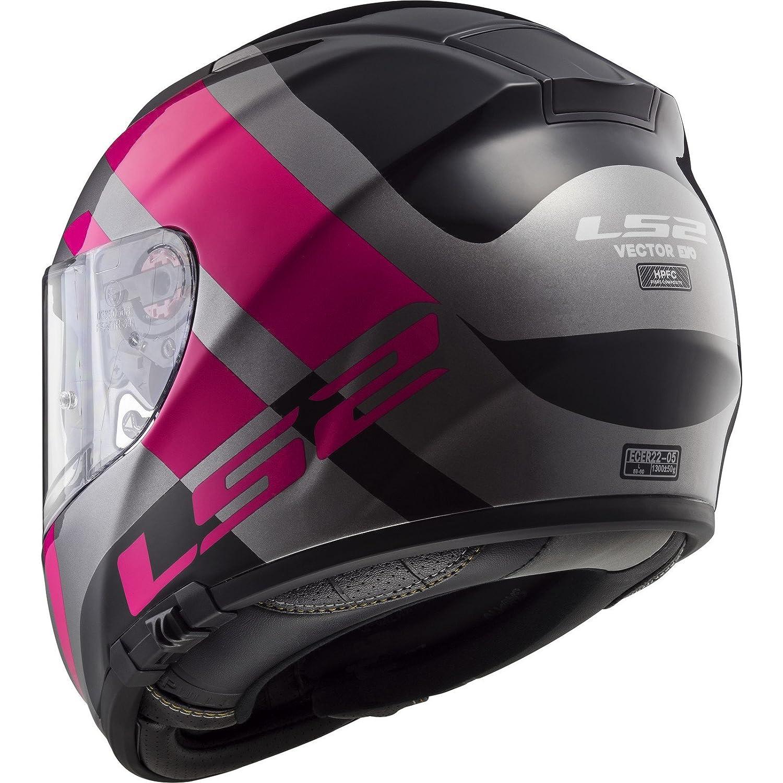 LS2 FF397 Vector HPFC Trident Motorcycle Helmet S White Red 103973132S