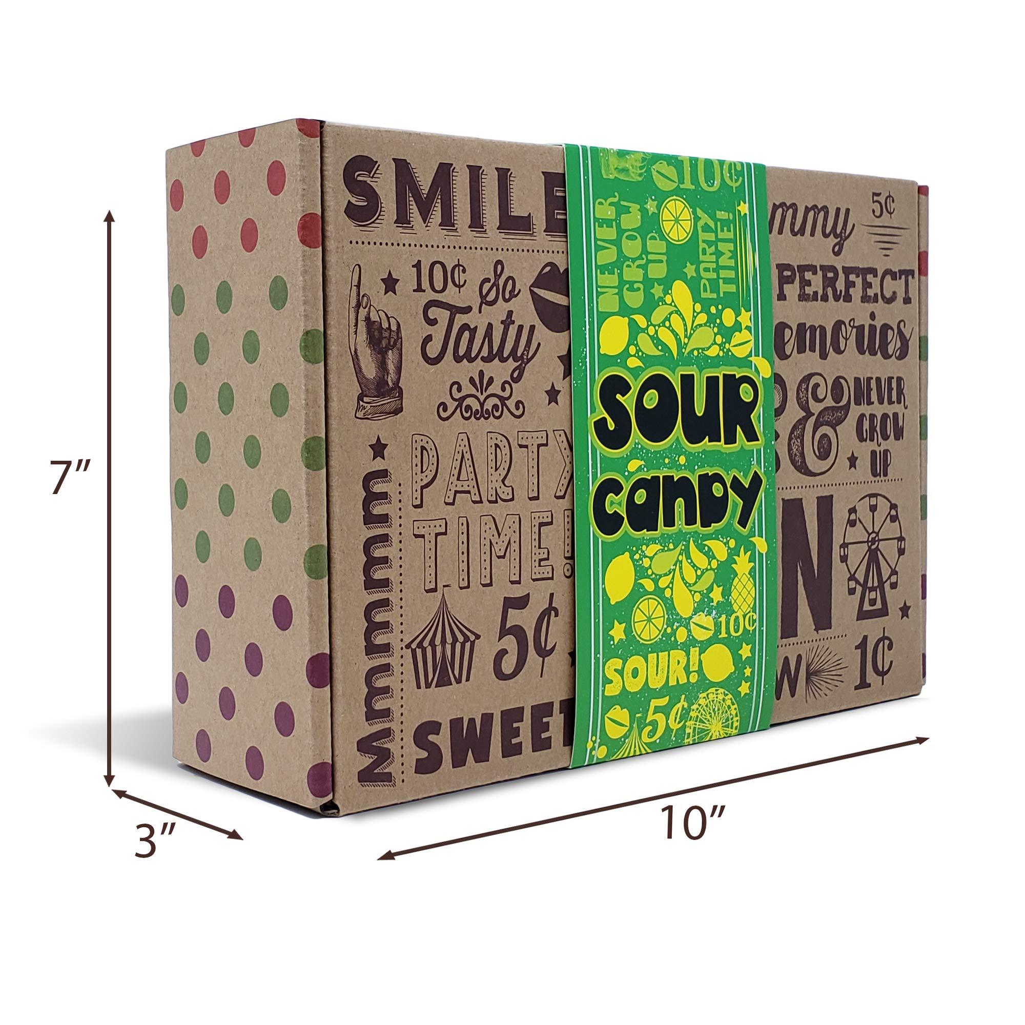 VINTAGE CANDY CO. SOUR CANDY ASSORTMENT GIFT BOX - Best Candy Variety Mix Care Package - Unique & Fun Gag Gift Basket - PERFECT For Man Or Woman Who LOVES SOUR Candy by Vintage Candy Co. (Image #9)