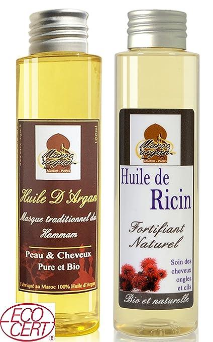 Cuidados para el Cabello Magnífico - Aceite de Argán y Aceite de Ricino - Crecimiento y