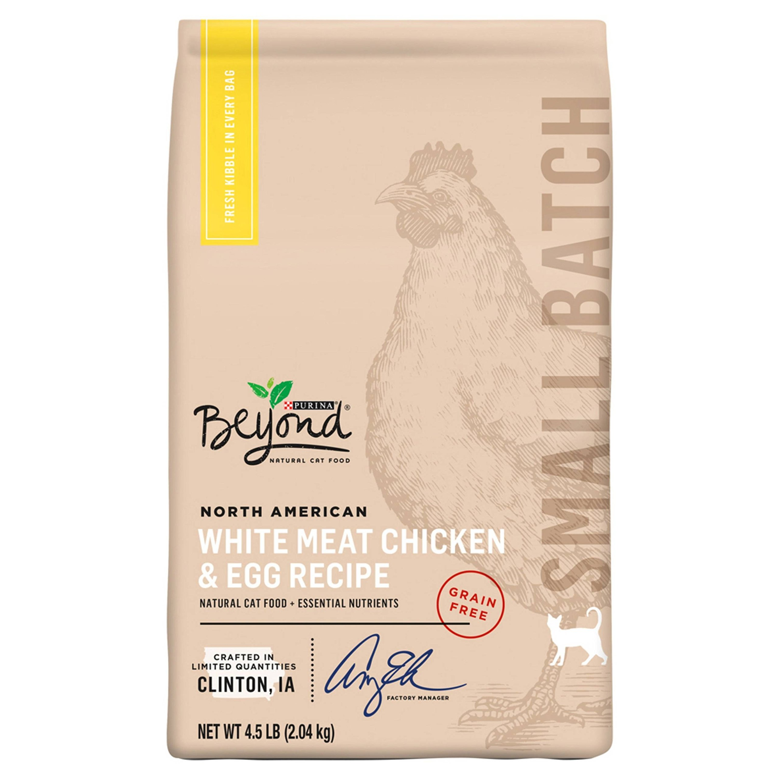 Purina Beyond Small Batch Grain-free North American White Meat Chicken & Egg Dry Cat Food - 4.5 lb. Bag by Purina Beyond (Image #1)