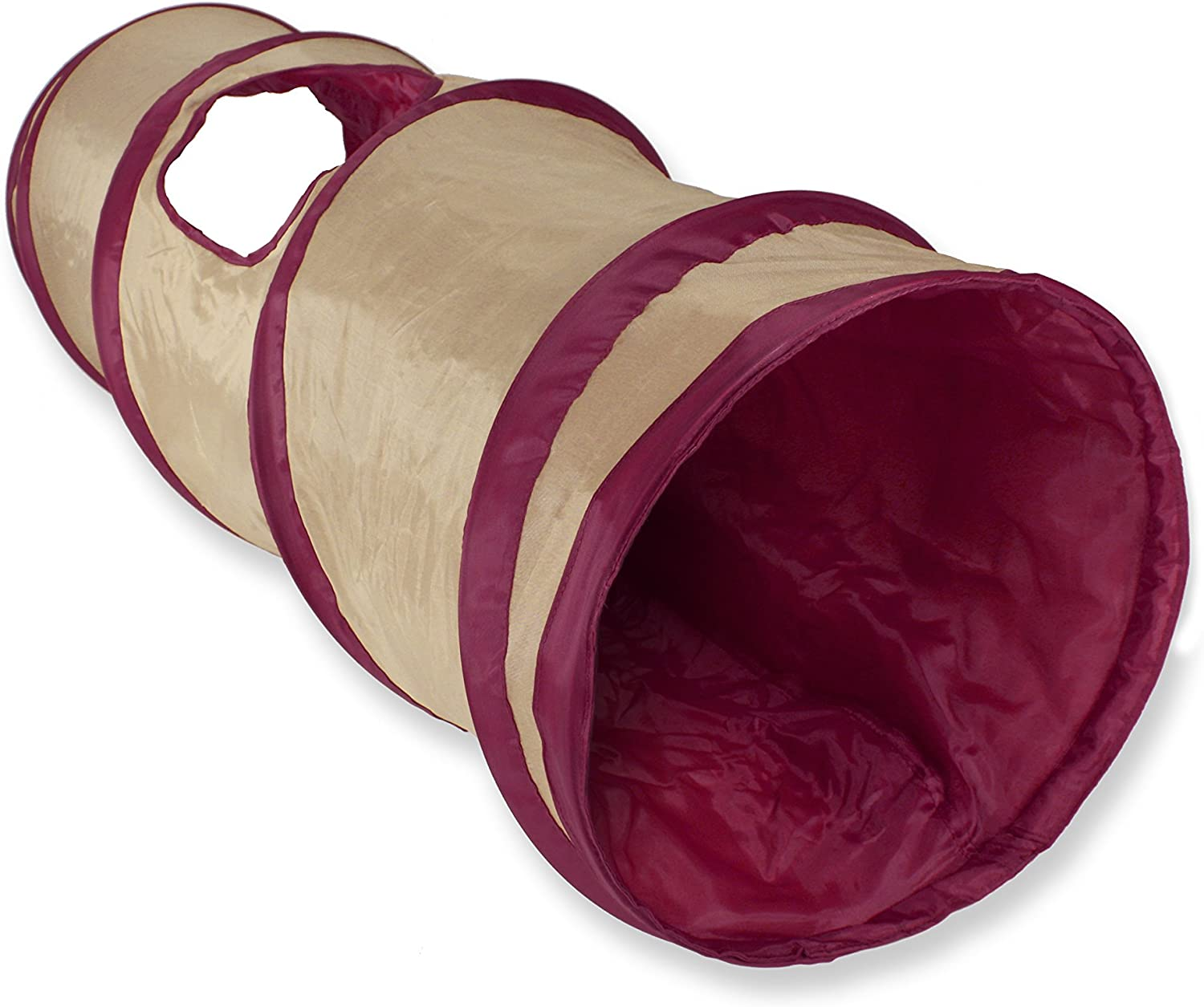 6. SmartyKat Crackle Chute Collapsible Tunnel