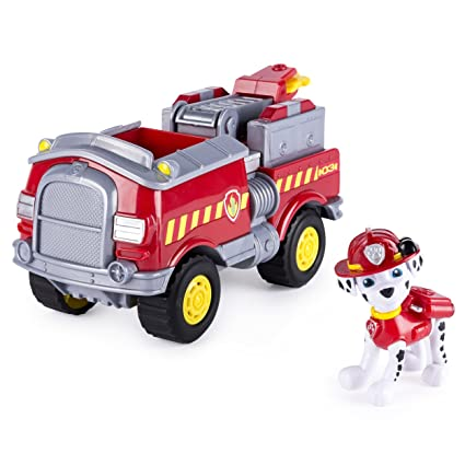 Amazon Com Paw Patrol Marshall S Forest Fire Truck Vehicle