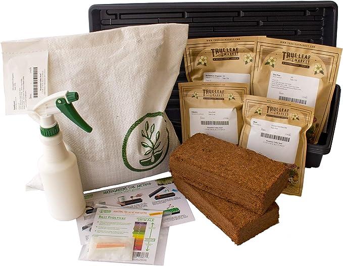 DIY Microgreens DELUXE 12-Seed Type Indoor Garden Kit Organic Vegan Gourmet Microgreens Seeds in Reusable Gift Box
