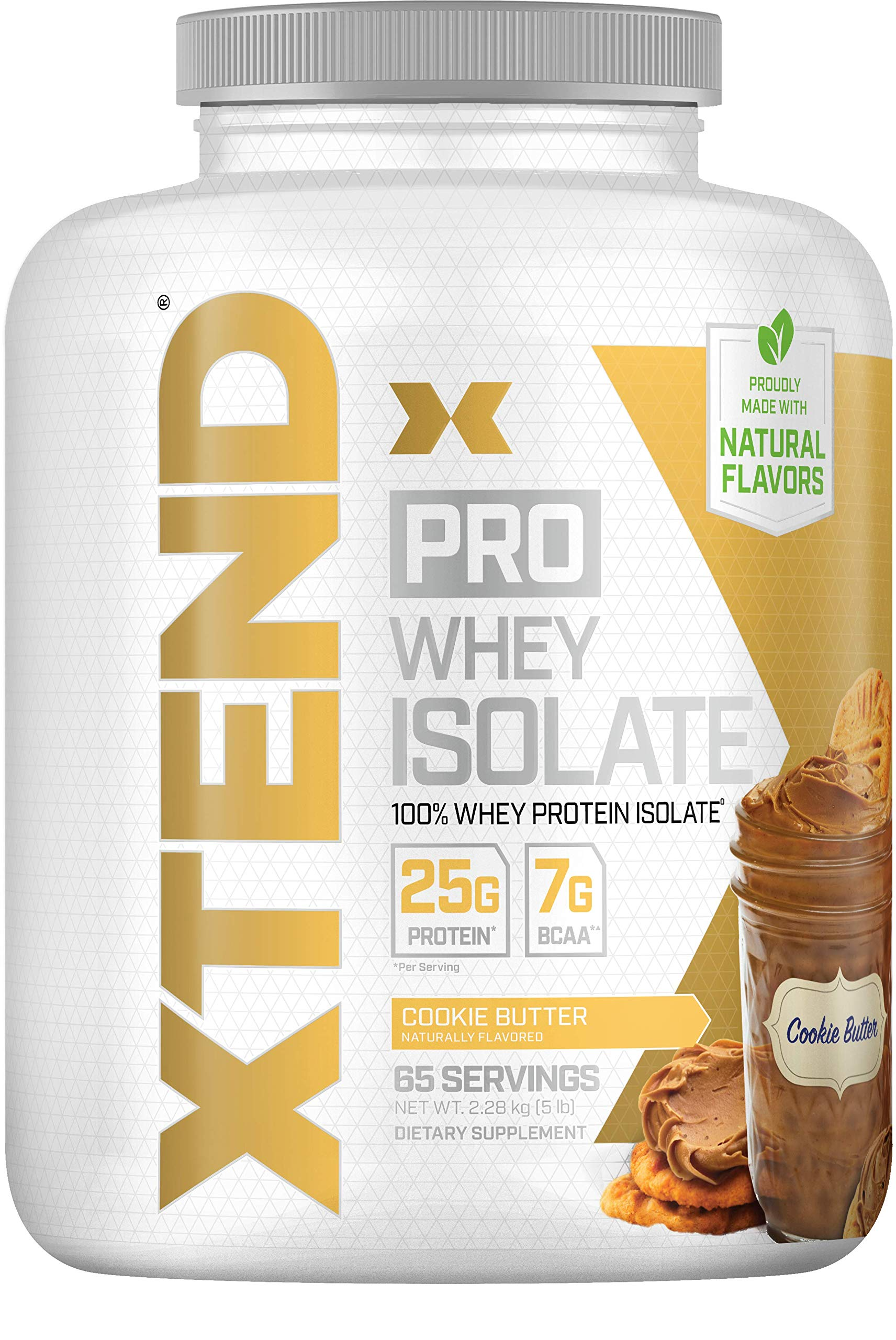 Scivation Xtend Pro, 100% Whey Protein Isolate Powder with BCAAs & Natural Flavors, Post Workout Recovery Drink, Gluten Free Low Carb Low Fat, Cookie Butter, 5 lbs