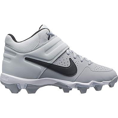 6e35ecdae2bc Nike Kids Alpha Huarache Varsity Keystone Mid GS Baseball Cleat Wolf  Grey Black Pure