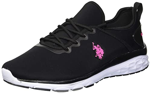 U.S. Polo Assn..(Women's Women's Hadley-L Oxford, Black/Fuchsia/White, 8.5 Medium US