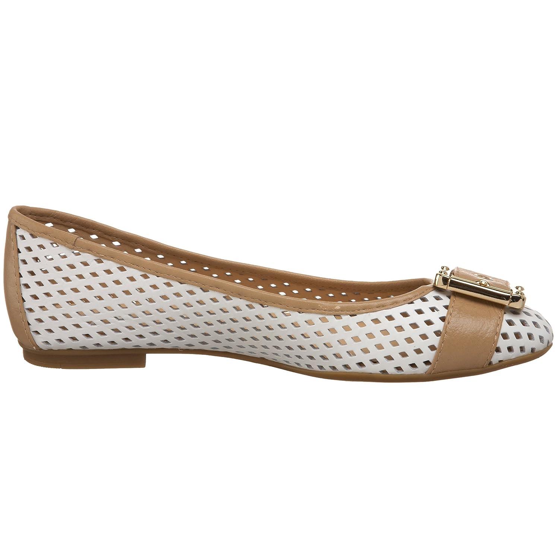 French Sole B002VBXE4A FS/NY Women's Waffle Ballet Flat B002VBXE4A Sole 10 B(M) US White/Camel 41eef3