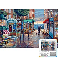 Ingooood- Jigsaw puzzle-2018 New Arrival - Painting Series – Rainy Day Stroll- 1000 Pieces for Adult Graduation Valentine's Day Gift