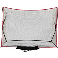 Large 10 X 7 Portable Golf Net - Great for year around golf practice - Can be used to hit balls indoors or outdoors. Large hitting area to catch all golf shots