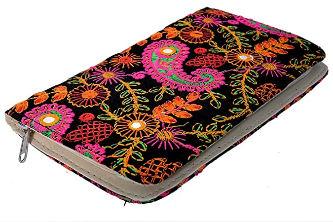 Craft Trade Embroiderd Cotton Clutch Bag For Women Women's Clutches