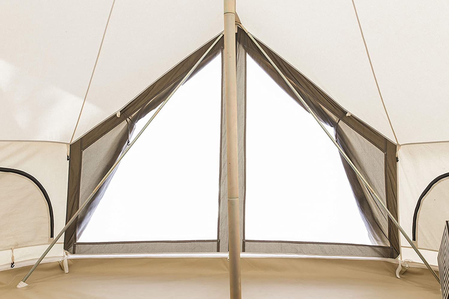 white duck avalon canvas bell tent