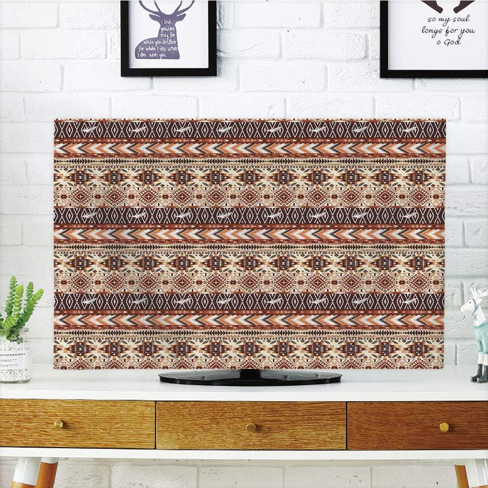 Funda para televisor LCD, diseño Antiguo, diseño de Azulejos Antiguos, Coral, Verde Azulado, Negro, diseño de impresión 3D, Compatible con televisores de 32 Pulgadas: Amazon.es: Hogar