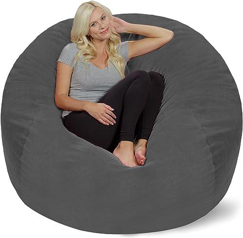 Chill Sack Bean Bag Chair: Giant 5' Memory Foam Furniture Bean Bag