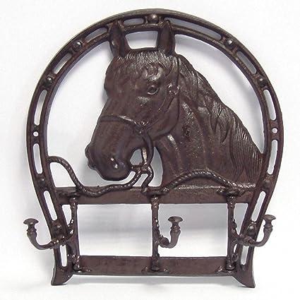 Gancho de pared cabeza de caballo perchero Equestrian ...