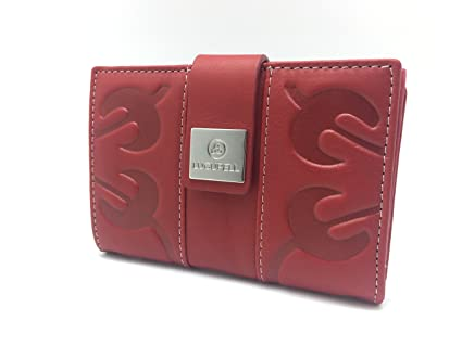 Cartera - Billetero de Piel Lugupell Venezia - Color: Rojo (13,5 x