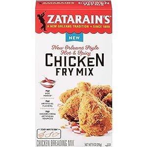 Zatarain's New Orleans Style Hot & Spicy Chicken Fry Mix, 9 oz