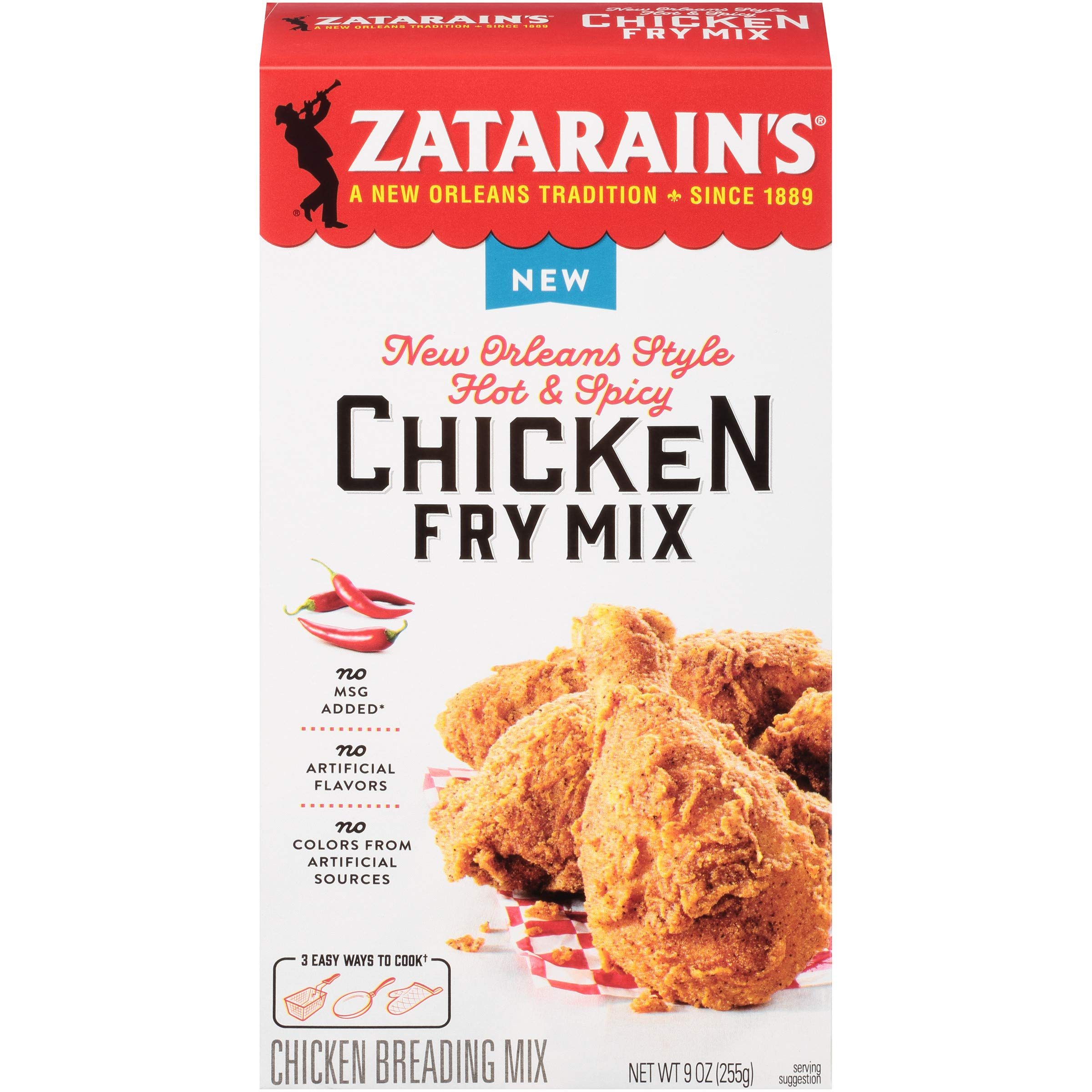 Zatarain's New Orleans Style Hot & Spicy Chicken Fry Mix, 9 oz ( 8 Count )