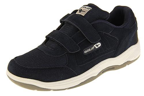 Gola AMA202 Belmont Hombre Zapatillas de Deporte del Velcro de Cuero Real: Amazon.es: Zapatos y complementos
