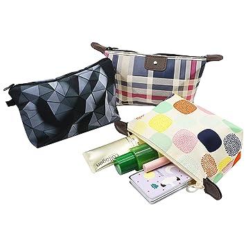91f2006ad420 Amazon.com : Roomy Cosmetic Bag, YAODHAOD 3 piece Set Women's Travel ...