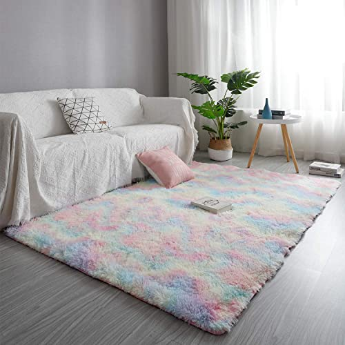 GOOVI Area Rugs Soft Fluffy Modern Home Decor Washable Non-Slip Carpet