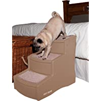 Pet Gear Easy Step III Pet Stairs, 3-Step for Cats/Dogs, Removable Washable Carpet Treads, for Pets Up to 150lbs