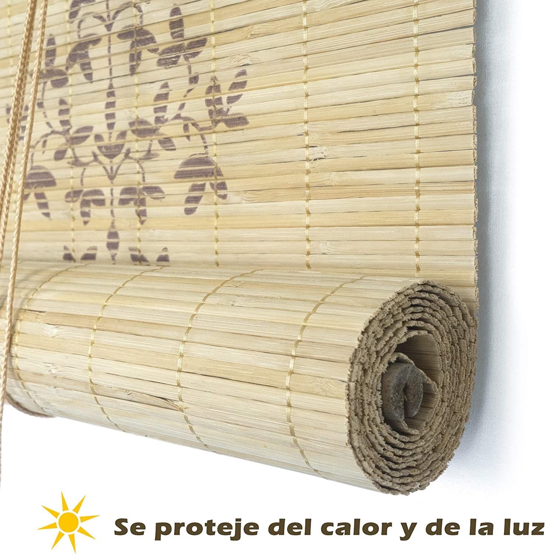 150 x 135 cm, Stampa Tenda a Rullo in bamb/ù Tapparella di bamb/ù Avvolgibile per Porte e Finestre x lungh.= largh Tenda di bamb/ù Pieghevole