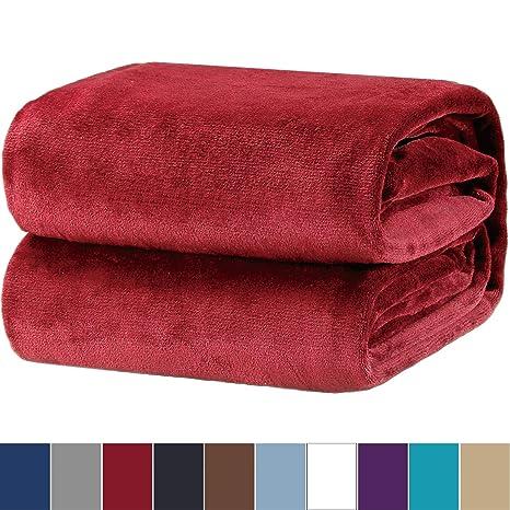 Bedsure Manta para Sofas de Franela 135x150cm - Manta para ...