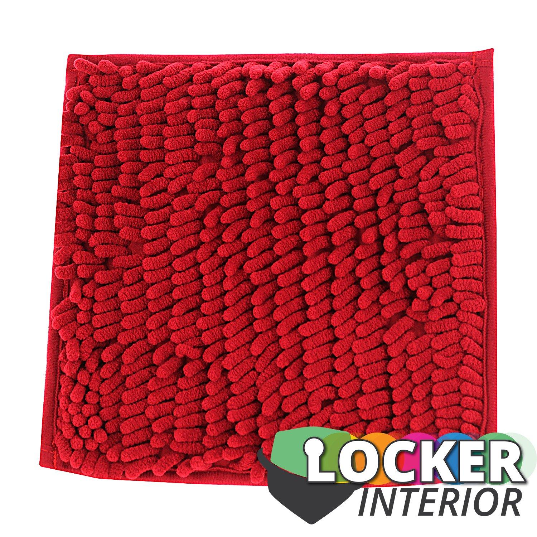 """School Locker Interior 10"""" Square Fur Rug Carpet (Rose Red"""