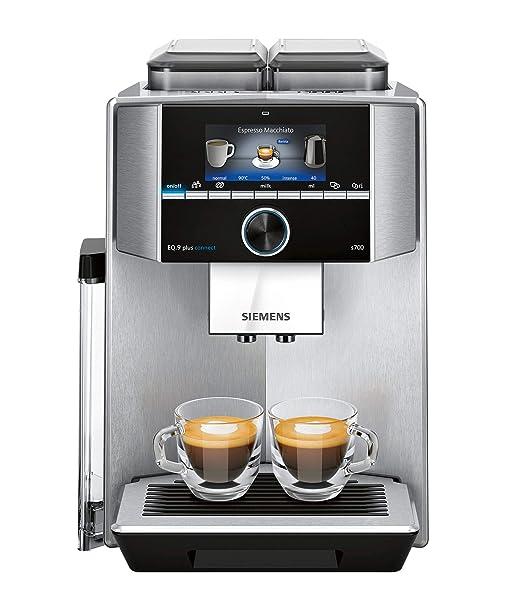 Siemens - Cafetera de café espresso con molinillo ajustable, doble ...