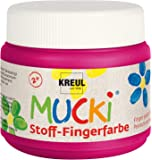 Mucki 28109 - Stoff Fingerfarbe, 150 ml, pink