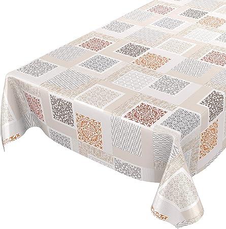 Mantel de hule modelo Shabby Nordic; lavable, diseño patchwork ...