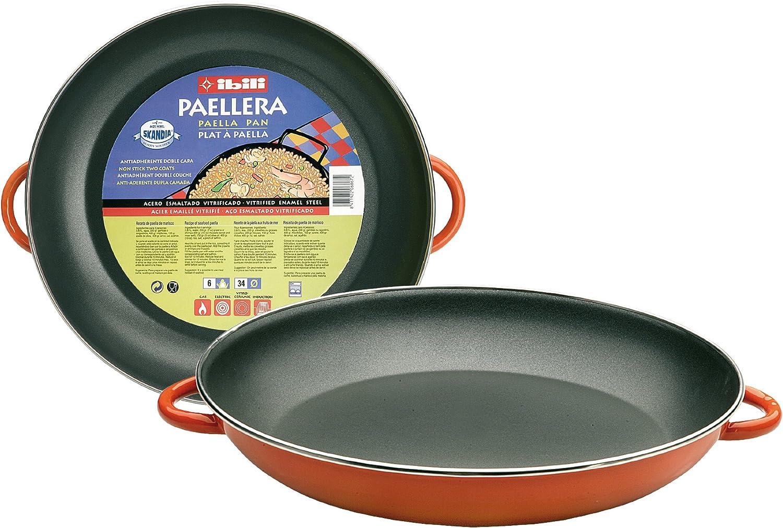 4 personnes Ibili 917130 Plat /à Paella Orange en acier /émaill/é vitrifi/é 30 cm