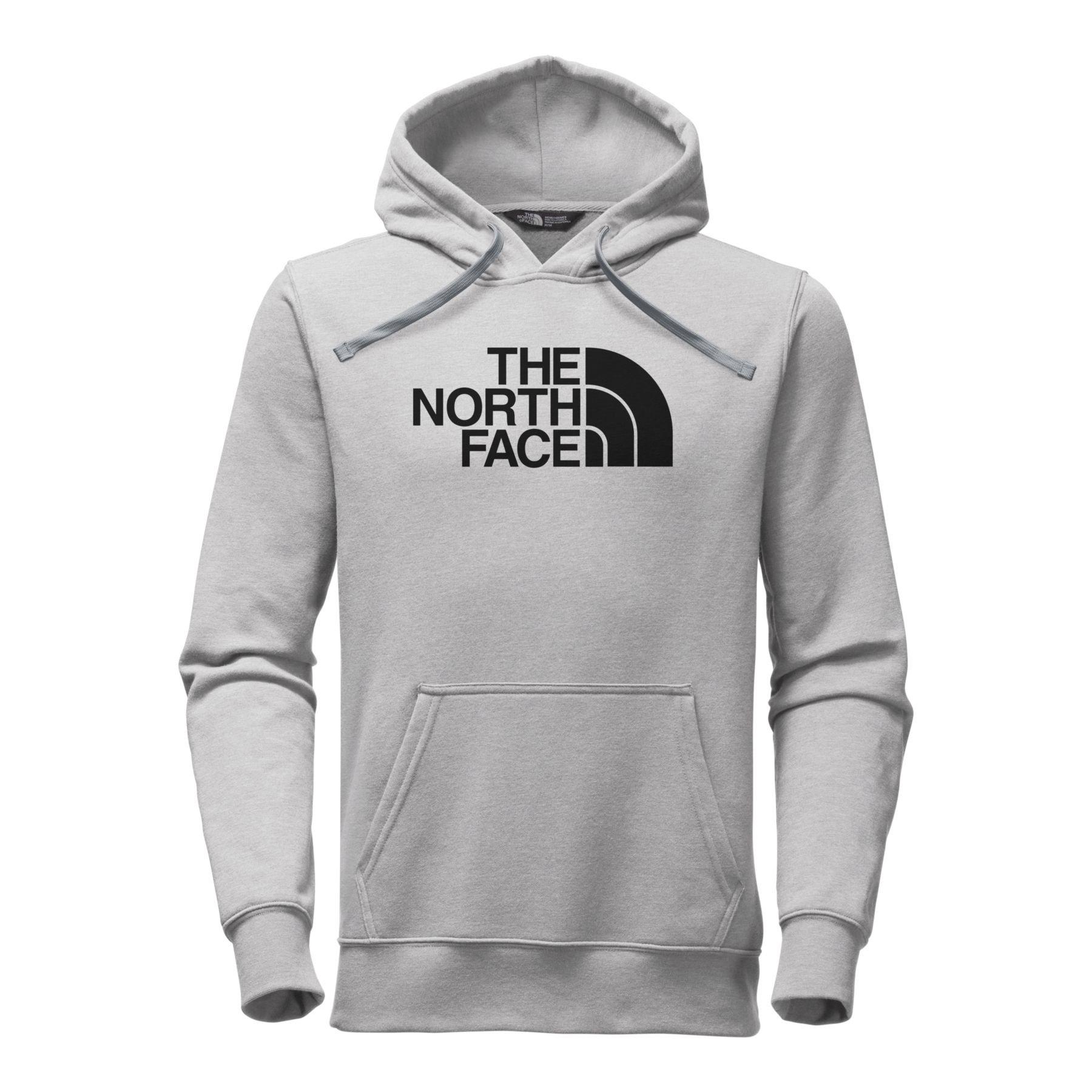 The North Face Men's Half Dome Hoodie - Medium Grey Heather/Black - L