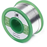 Lead Free Solder Wire Sn99.3 Cu0.7 with Rosin Core for Electrical Soldering 100g (0.6 mm) by TAMINGTON