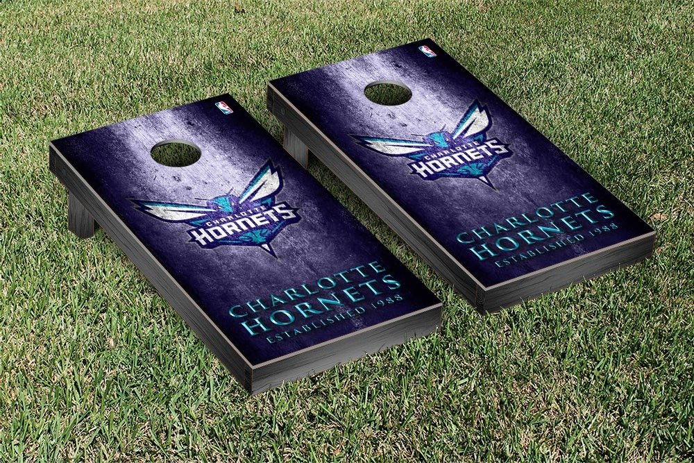 Charlotte Hornets NBA Basketball Regulation Cornhole Game Set Museum Version