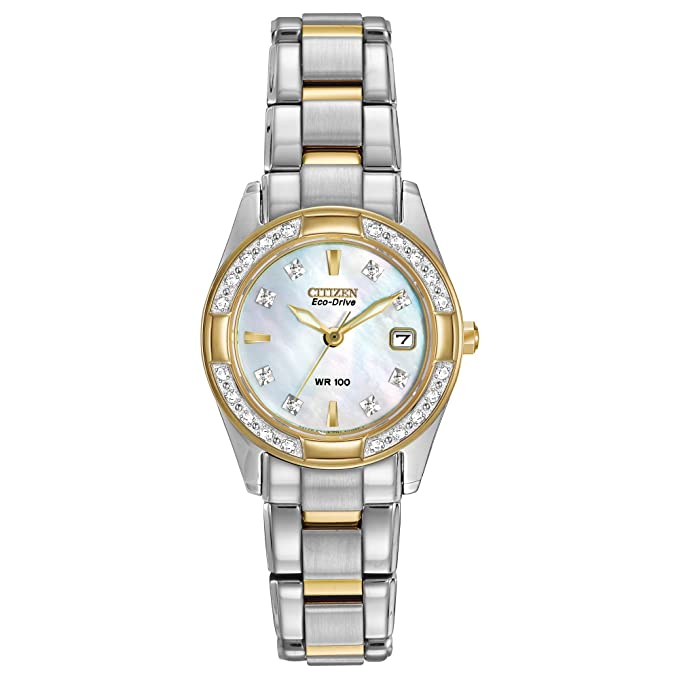 Citizen Women's Eco-Drive Diamond-Accented Watch with Date, EW1824-57D