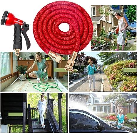 Flexibler Gartenschlauch Flexischlauch Schlauch 1 x rot 30 m 0,55€//m