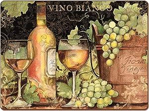 Cala Home 4 Premium Hardboard Placemats Table Mats, Bright Wine