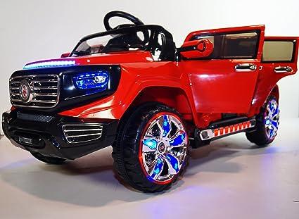 Amazon Com Large Red With Tesla Tecnolodgy Steering Sistem 4 Door