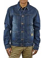 Alpinestars Mens Wyatt Denim Trucker Jacket, Large, Dirty Blue