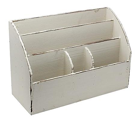 Amazon Com Vintage Rustic Wooden Office Desk Organizer Mail Rack