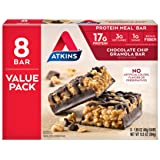 Atkins Protein-Rich Meal Bar, Chocolate Chip Granola, Keto Friendly, 8 Count