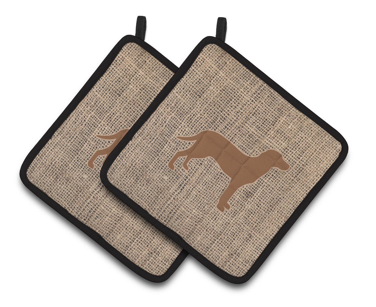 Multicolor 7.5HX7.5W Carolines Treasures Labrador Faux Burlap /& Brown Pair of Pot Holders BB1116-BL-BN-PTHD