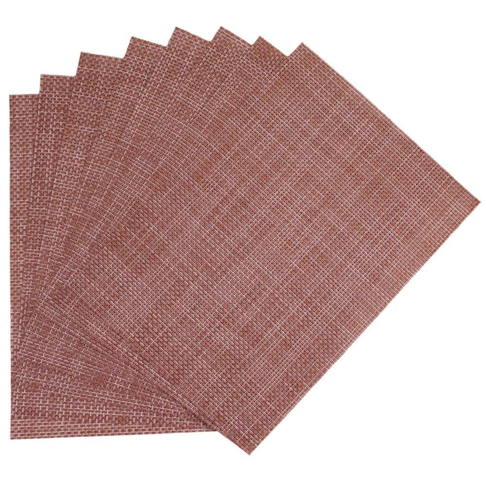Benson Mills Longport - Mantel Individual de Vinilo, marrón, Set of 8