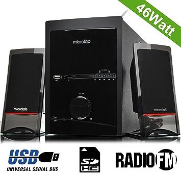 Microlab m700u acústica Subwoofer HIFI altavoz Amplificador de audio de cine en casa Multimedia sistema 2.1