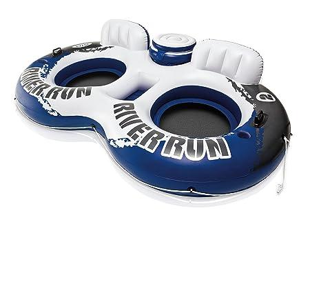 Intex 58837EU - Rueda doble hinchable River Run 2 & nevera 243 x 157 cm