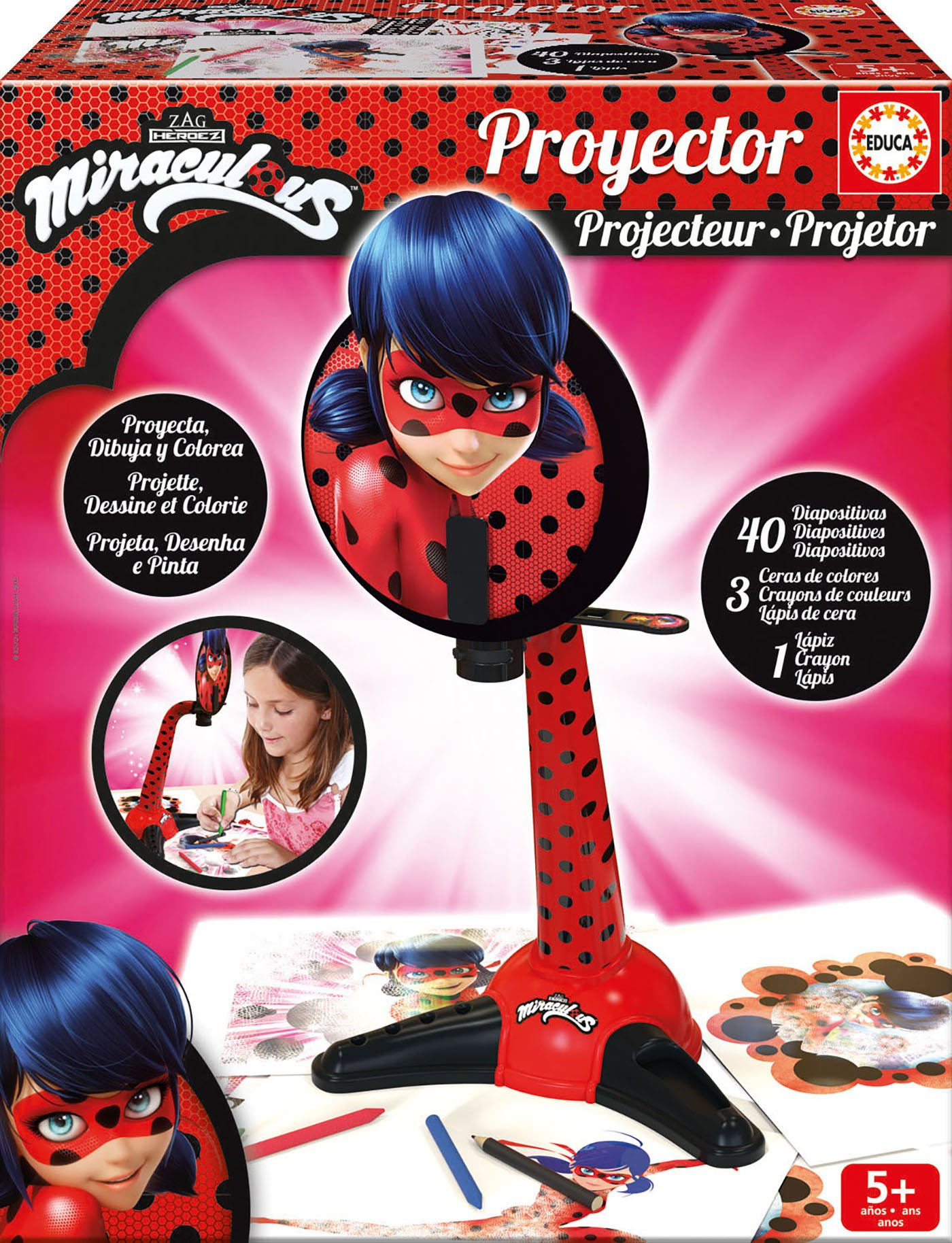 Educa Borrás 17415 Projector Miraculous Lady Bug