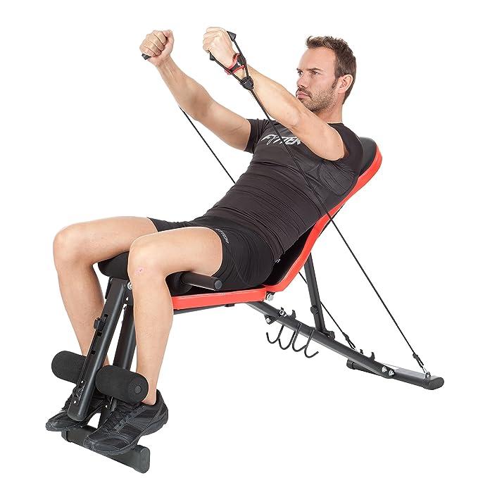 FYTTER Bench Be-03R Banco de musculación Plegable, Unisex, Negro/Rojo: Amazon.es: Deportes y aire libre