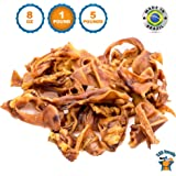 123 Treats Pigs Ears Strips for Dogs Chews 100% Natural Healthy Pig Ear Slivers Dog Treats | Top Quality Pork Curls Pet Chew
